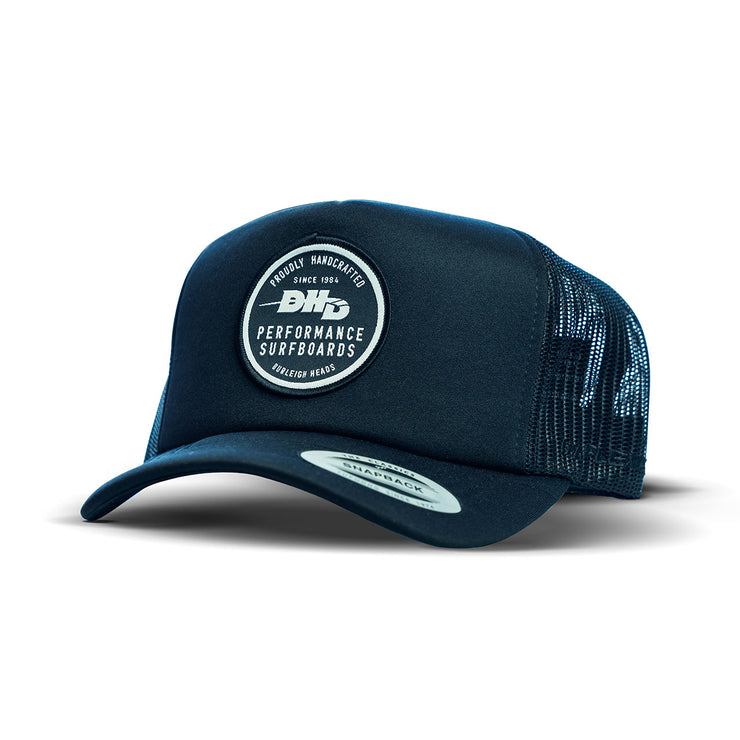 DHD Performance Made in Burleigh Heads Classic Trucker - Black/Black