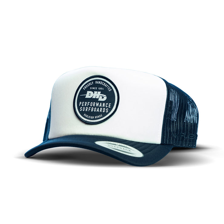 DHD Performance Made in Burleigh Heads Classic Trucker - White/Black