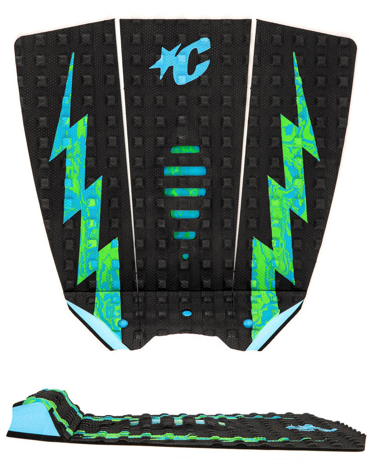 Mick Eugene Fanning Lite - Black Cyan Green Swirl - Creatures of Leisure
