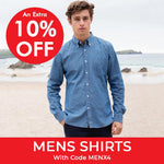10% off men's shirts with code MENX4
