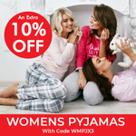 10% off Women's pajamas with code WMPJX3