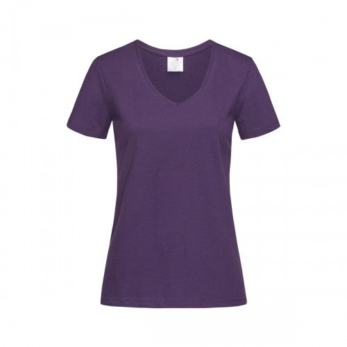 Front - Stedman Womens/Ladies Classic V Neck Tee