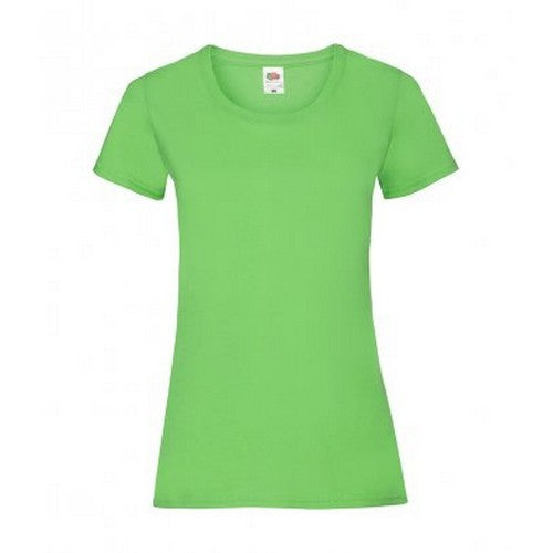 Lime - Front - Fruit Of The Loom Ladies-Womens Lady-Fit Valueweight Short Sleeve T-Shirt