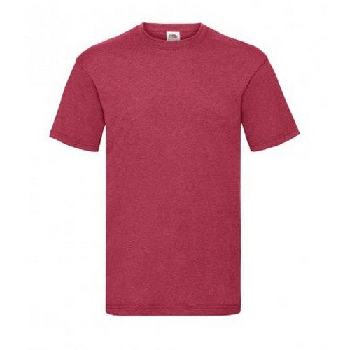 Vintage Heather Red - Front - Fruit Of The Loom Mens Valueweight Short Sleeve T-Shirt