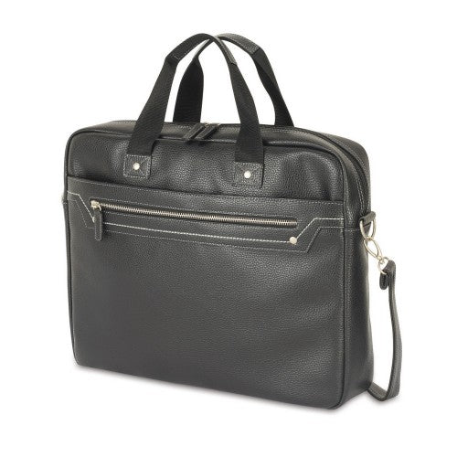 Front - Shugon Munich Faux Leather Briefcase Bag