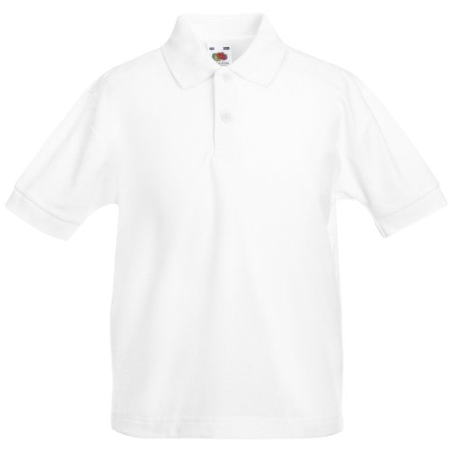 Front - Fruit Of The Loom Childrens/Kids Unisex 65/35 Pique Polo Shirt