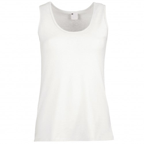 Front - Womens/Ladies Value Fitted Sleeveless Vest