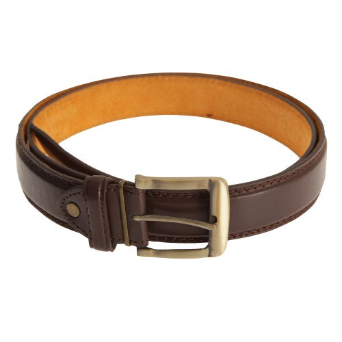Front - Forest Belts Mens 1.25 Inch Bonded Leather Belt