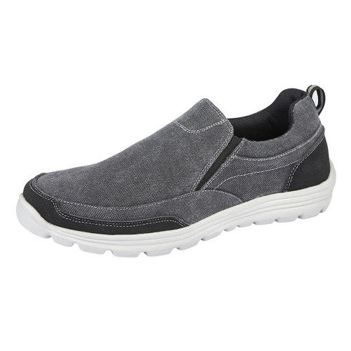 Front - Dek Mens Memory Foam Slip On Shoes