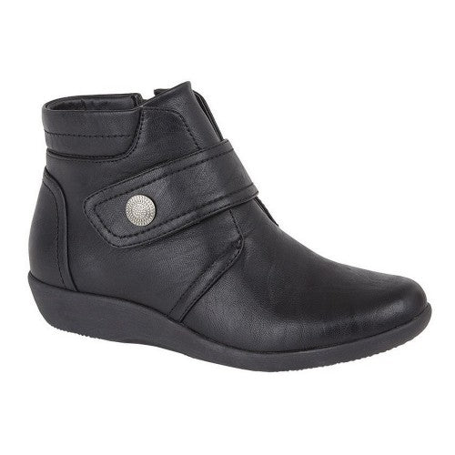 Front - Boulevard Womens/Ladies Wide Fit Ankle Boots