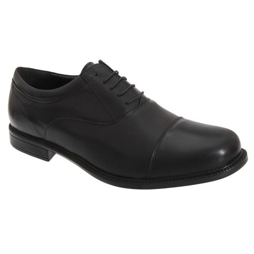 Front - Roamers Mens Fuller Fitting Capped Leather Oxford Shoes