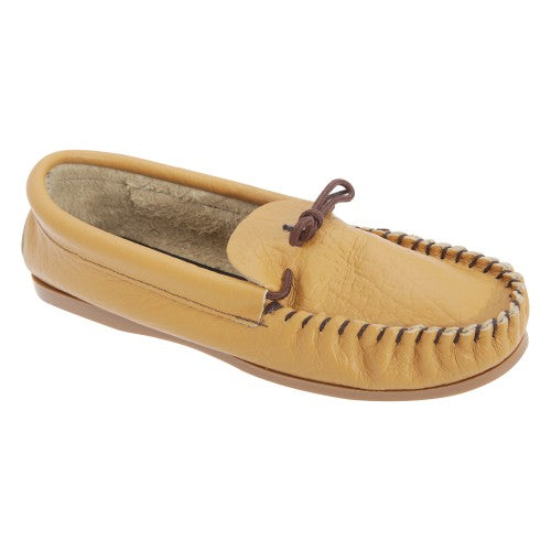 Front - Mokkers Mens Gordon Softie Leather Moccasin Slippers