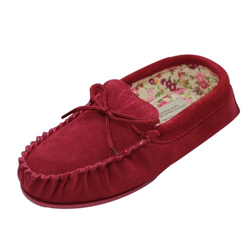 Front - Eastern Counties Leather Womens/Ladies Fabric Lined Moccasins