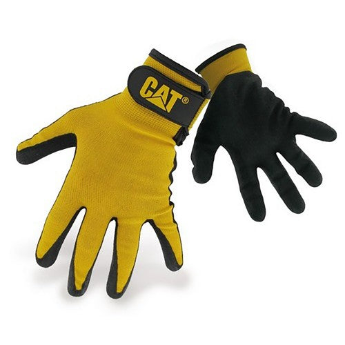 Front - Caterpillar 17416 Nitrile Coated Nylon Shell Gloves / Mens Gloves / Gloves