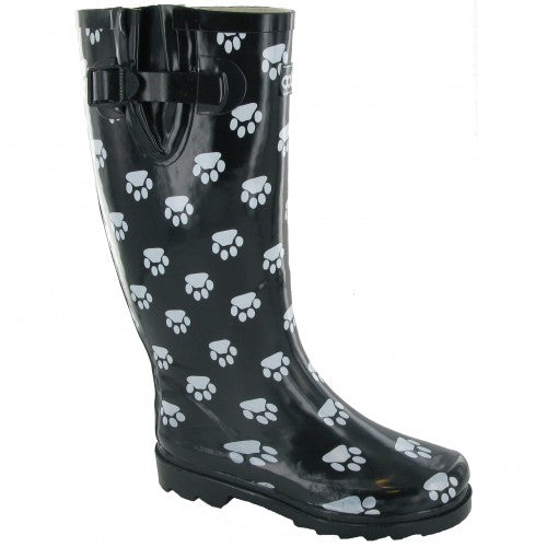 Front - Cotswold Collection Dog Paw Welly / Womens Boots