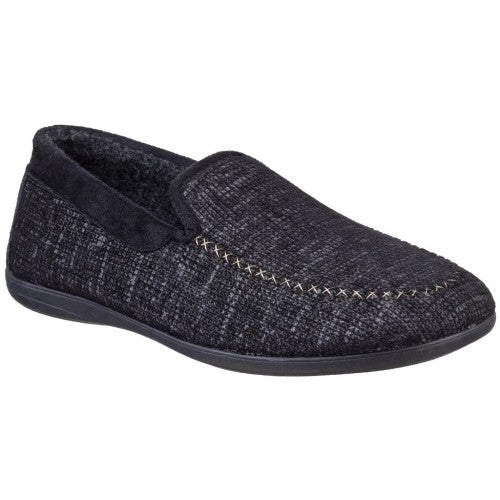Front - Cotswold Mens Stanley Moc Toe Full Slipper