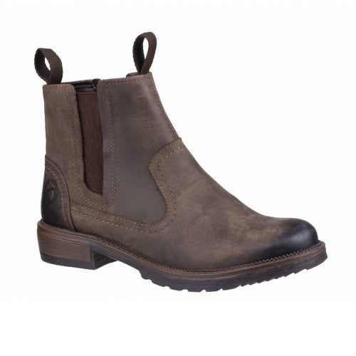 Front - Cotswold Womens/Ladies Laverton Slip On Leather Ankle Boot