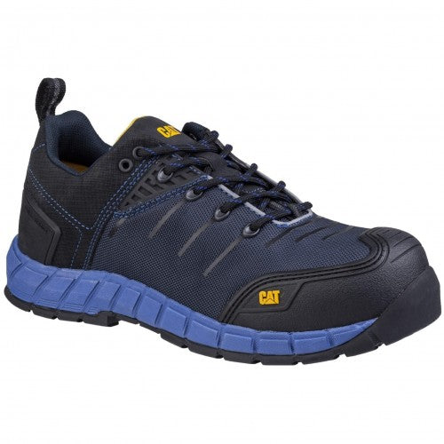 Front - Caterpillar Mens Byway Lace Up Safety Trainer