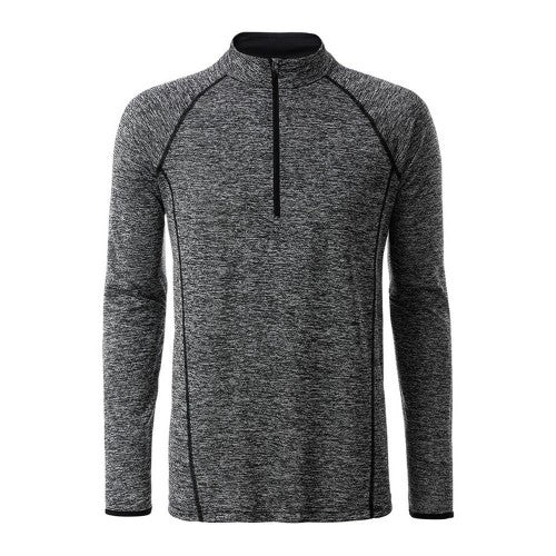 Front - James and Nicholson Mens Long Sleeve Sports Top