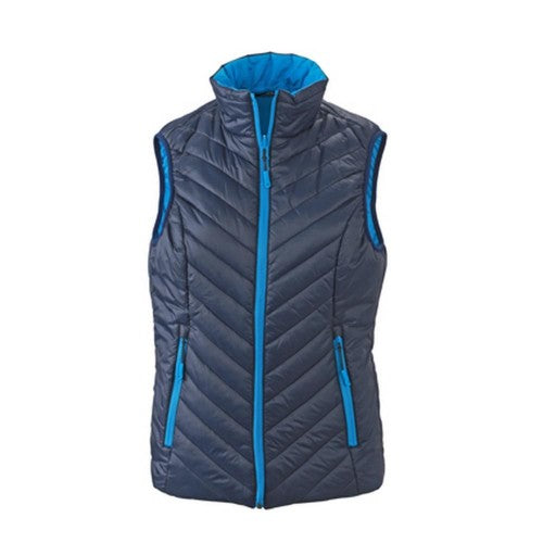 Front - James and Nicholson Womens/Ladies Light Weight Vest