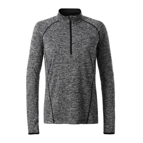 Front - James and Nicholson Womens/Ladies Long Sleeve Sports Top