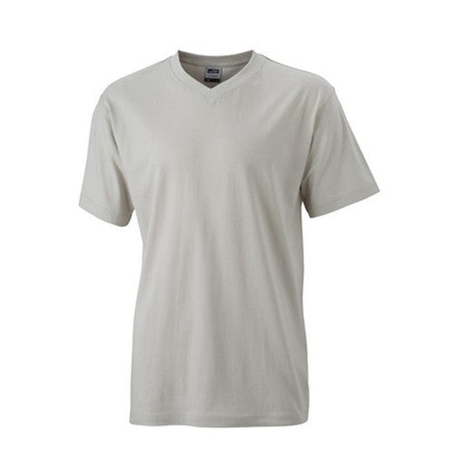 Front - James and Nicholson Mens V Neck Tee