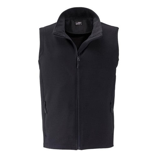 Front - James and Nicholson Mens Promo Softshell Vest
