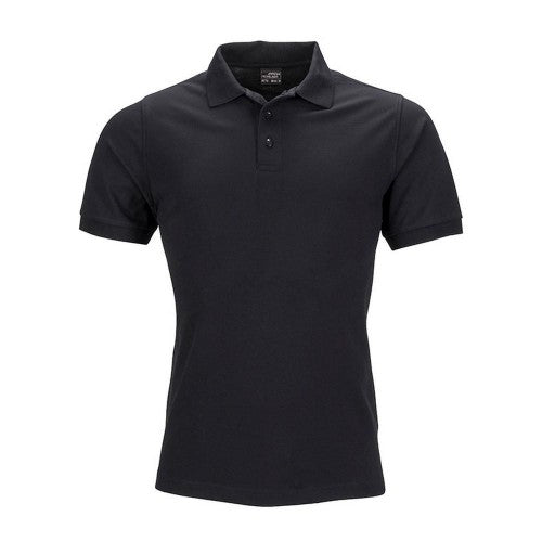Front - James and Nicholson Mens Elastic Pique Polo Shirt