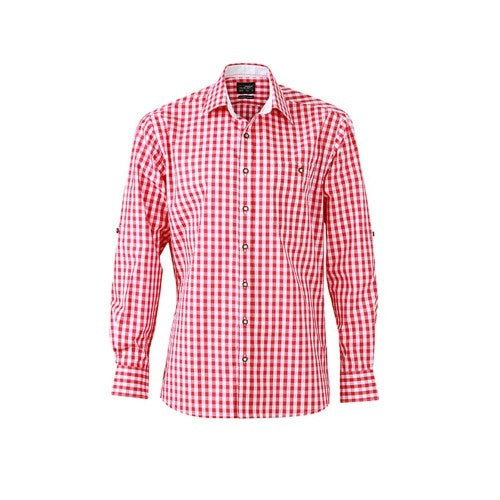 Front - James and Nicholson Mens Traditional Shirt