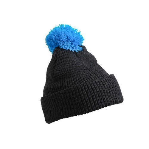 Front - Myrtle Beach Adults Unisex Pompom Hat With Brim