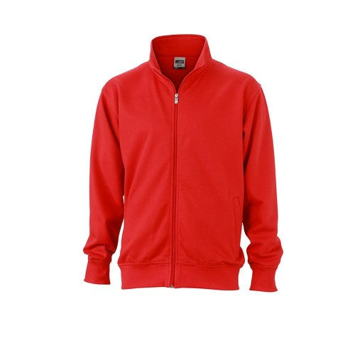 Front - James and Nicholson Unisex Workwear Sweat Jacket