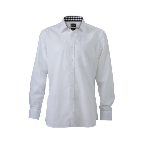 Front - James and Nicholson Mens Plain Shirt