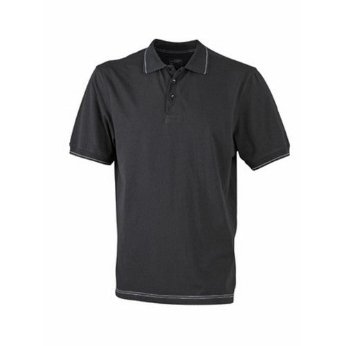 Front - James and Nicholson Mens Elastic Polo