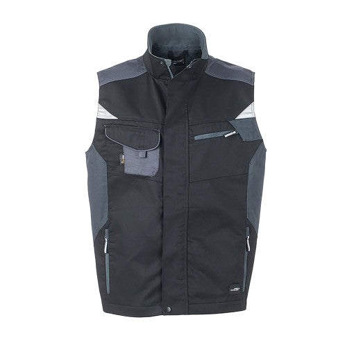 Front - James and Nicholson Unisex Workwear Vest