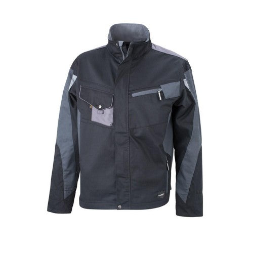 Front - James and Nicholson Unisex Workwear Jacket