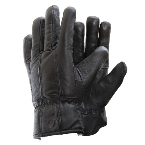 Front - Mens Soft Sheep Skin Genuine Leather Gloves