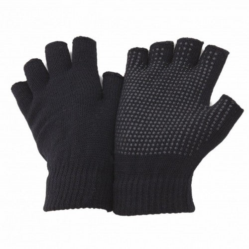 Front - FLOSO Unisex Fingerless Magic Gloves With Grip