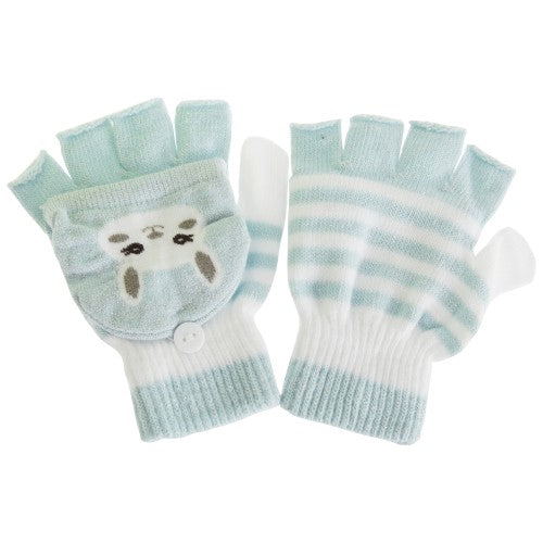 Front - Childrens/Kids Cat Striped Gloves/Mittens With Glitter (1 Pair)
