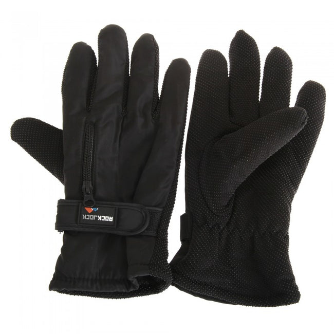 Front - RockJock Mens Thermal Insulation Touch Fasten Gloves