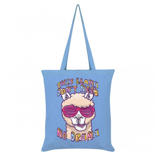 Front - Grindstore This Llama Don`t Need No Drama Tote Bag