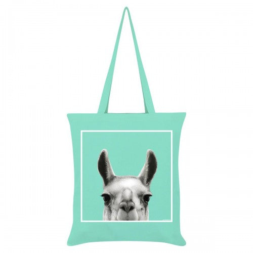 Front - Inquisitive Creatures Llama Tote Bag