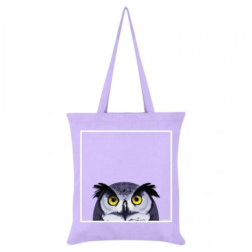 Front - Inquisitive Creatures Owl Tote Bag