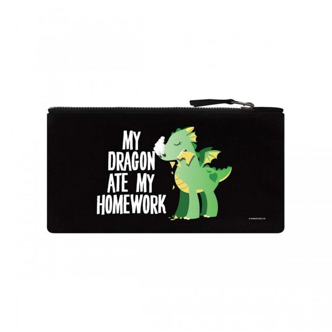 Front - Grindstore My Dragon Ate My Homework Pencil Case
