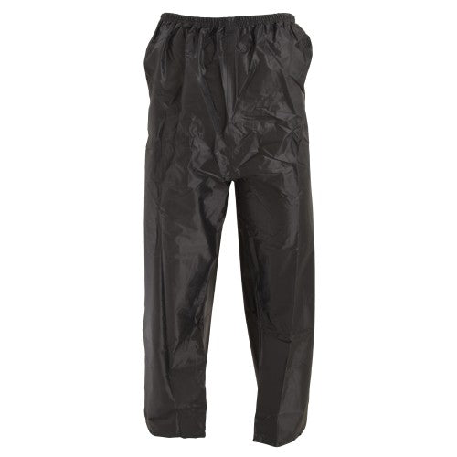 Front - Unisex Press Stud Waterproof Over-Trousers