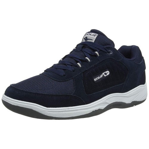 Front - Gola Mens Belmont Suede Leather Wide Fit Trainer