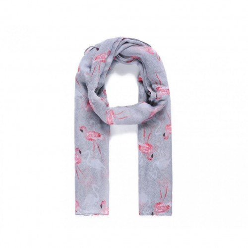 Front - Catherine Lansfield Womens/Ladies Flamingo Print Scarf