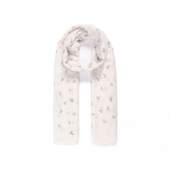 Front - Intrigue Womens/Ladies Small Heart Print Scarf