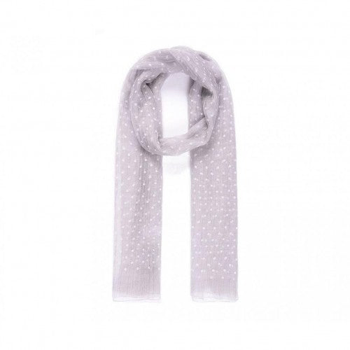 Front - Intrigue Womens/Ladies Polka Dot Voile Scarf