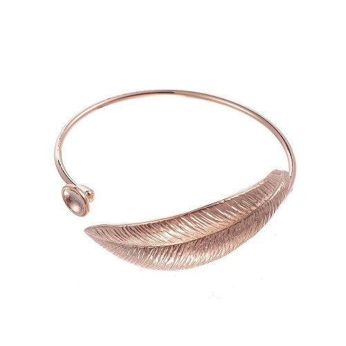 Front - Intrigue Womens/Ladies Large Leafy Bangle
