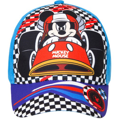 Front - Disney Childrens/Kids Mickey Mouse Racing Cap